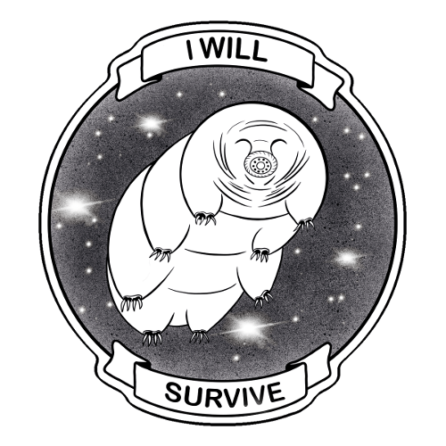 Science tardigrade vinyl sticker